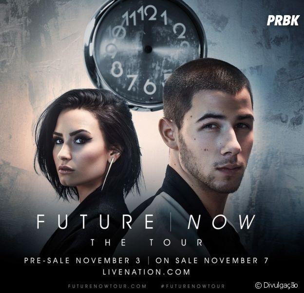"""Demi Lovato e Nick Jonas, com a """"Future Now Tour"""", têm cinco datas marcadas no Brasil!"""