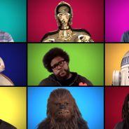 """De """"Star Wars VII"""": elenco canta música tema do filme a capella... tem até Stormtroopers!"""