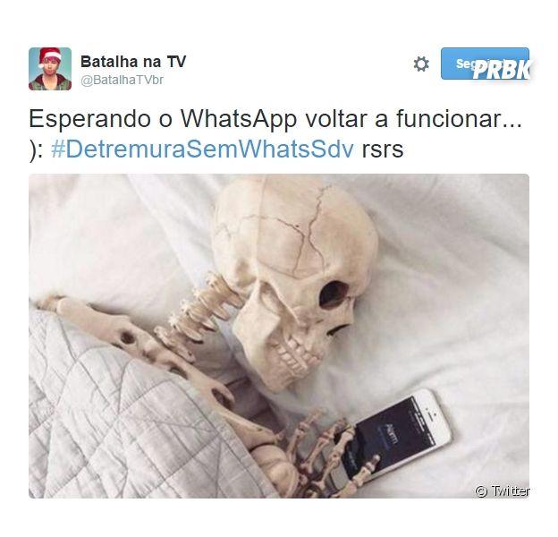 Whatsapp é tirado do ar no Brasil e internautas fazem piada