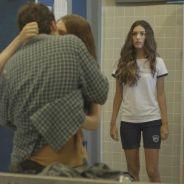 """Novela """"Malhação"""": Luciana (Marina Moschen) flagra Rodrigo beijando outra e fica com ciúmes!"""