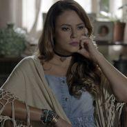 """Novela """"Além do Tempo"""": Melissa (Paolla Oliveira) anuncia que Felipe não é pai de Alex!"""