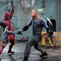 """Em """"Deadpool"""": herói faz lutas de espadas com Ajax (Ed Skrein) na primeira cena completa liberada!"""