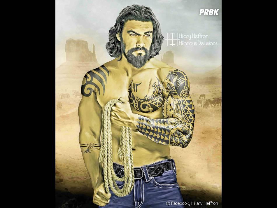 """Khal Drogo (Jason Momoa), de """"Game of Thrones"""", ficou mais estiloso com essas tatuagens!"""