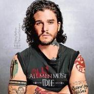 """De """"Game of Thrones"""": Jon Snow, Daenerys, Arya e mais personagens ganham novo visual com tatuagens!"""