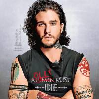 "De ""Game of Thrones"": Jon Snow, Daenerys, Arya e mais personagens ganham novo visual com tatuagens!"