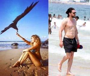 Grazi Massafera e Kit Harington amam uma praia e aquele sol!