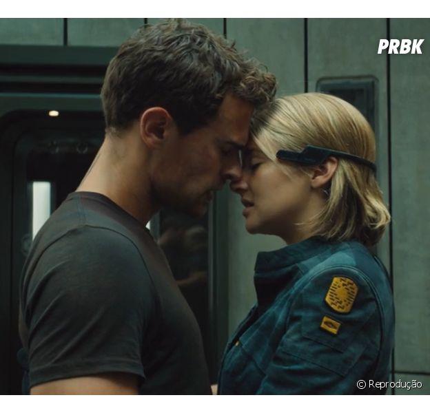 """Amor entre Tris (Shailene Woodley) e Quatro (Theo James) é foco de novo trailer de""""A Série Divergente: Convergente"""""""