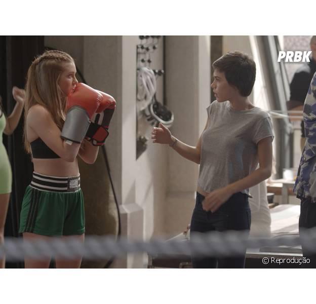 """Eliza (Marina Ruy Barbosa) arma barraco com Leila em """"Totalmente Demais"""""""