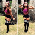 Quer sair com uma vibe mais colegial sexy? Olha esta roupa da Anitta para se inspirar!