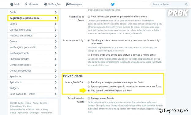 Remova suas marcações das fotos do Twitter!