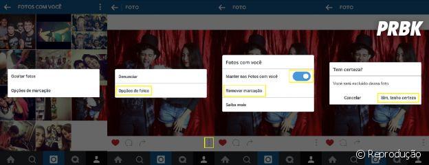 Remova suas marcações das fotos do Instagram!