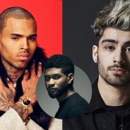 Chris Brown, Zayn Malik, ex-One Direction, e Usher juntos? Cantores podem fazer parceria em música!