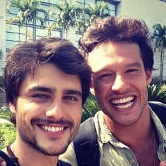 """Guilherme Leicam se despede do rival de """"Em Família"""": """"Foi muito bom gravar com você"""""""