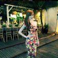 Maria Eugênia usa look com estampa de cajú e ganha elogios dos seguidores
