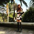 Maria Eugênia mostra look em dia de passeio