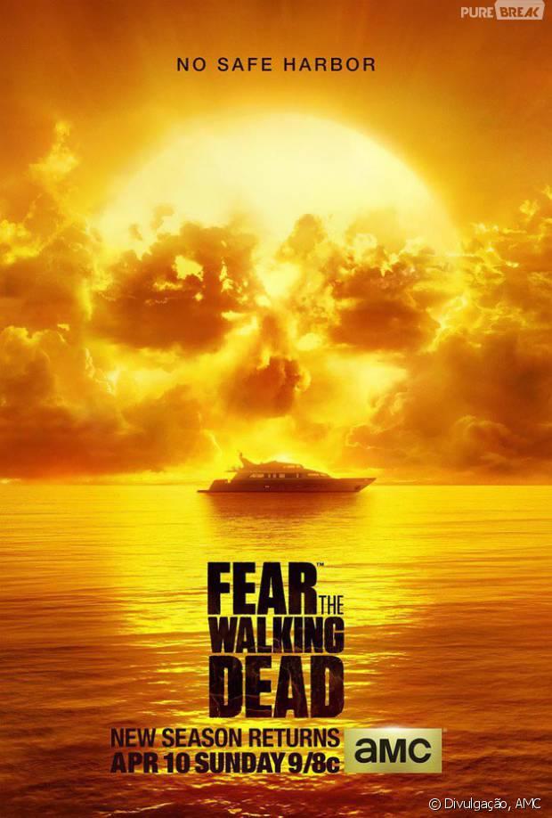 "Em ""Fear The Walking Dead"", pôster com formato de rosto promove 2ª temporada!"