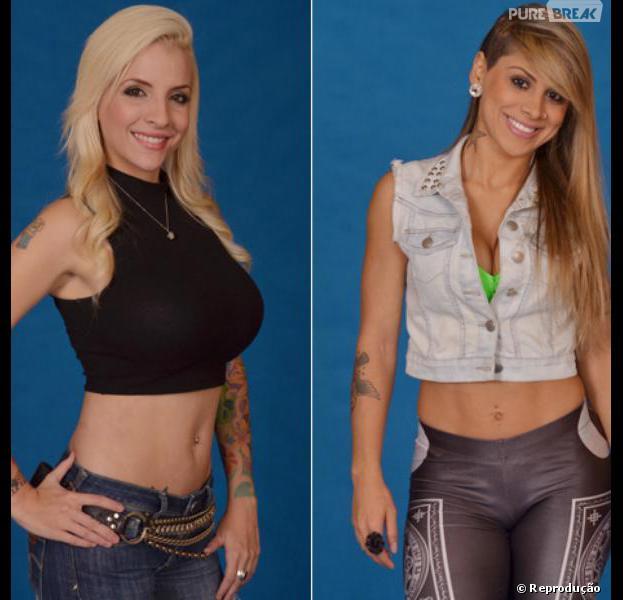 """Caem na internet fotos antigas de Clara e Vanessa, participantes do """"BBB14"""""""
