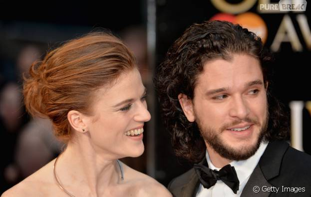 """Kit Harington e Rose Leslie, de """"Game of Thrones"""", assumem namoro!"""
