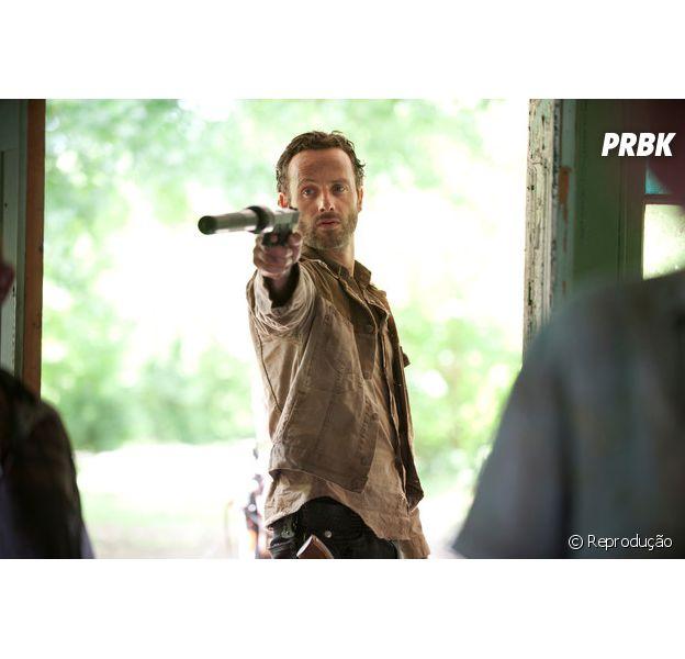"""Em """"The Walking Dead"""", Andrew Lincoln, o Rick, revela que elenco fez pacto para não revelar vítima de Negan!"""