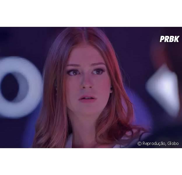 """Em """"Totalmente Demais"""", Eliza (Marina Ruy Barbosa) é sequestrada por Jacaré (Sérgio Malheiros), mas Jonatas (Felipe Simas) consegue salvá-la!"""
