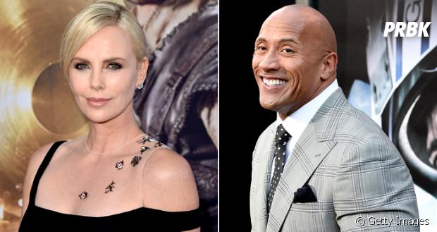 """Após entrar para o elenco de """"Velozes & Furiosos 8"""", Charlize Theron ganha boas-vindas de Dwayne Johnson"""