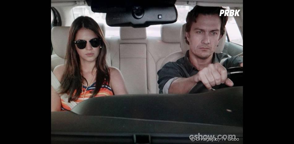 """Luiza (Bruna Marquezine) se aproximou de Laerte (Gabriel Braga Nunes) na trama de """"Em Família"""""""
