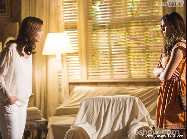 """Na novela """"Em Família"""", Luiza (Bruna Marquezine) dirá para Helena (Julia Lemmertz) que era para ela ter ficado com Laerte (Gabriel Braga Nunes)!"""