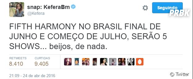 Fifth Harmony marca cinco shows no Brasil para o meio de 2016