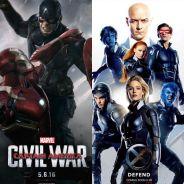 """Duelo """"Capitão América 3: Guerra Civil"""" ou """"X-Men: Apocalipse"""": qual é a estreia mais aguardada?"""