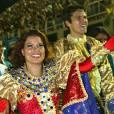 """No """"BBB 3"""", Jean e Viviane ganharam a honra de desfilar pela Beija-Flor, que venceu o Carnaval carioca daquele ano!"""