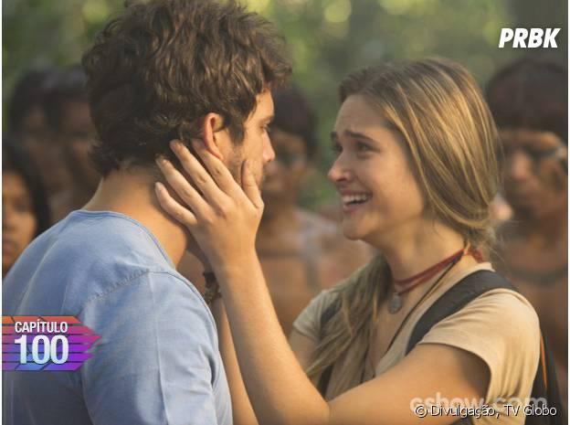 """Em """"Além do Horizonte"""",Lili (Juliana Paiva) ficará emocionada ao rever William (Thiago Rodrigues)"""