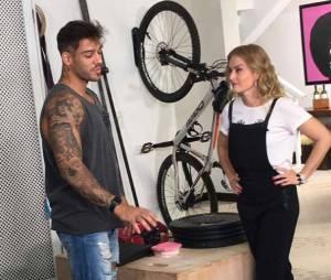 """Lucas Lucco contou um pouco de sua rotina de treinos para Angélica, e entrevista deve ir ao ar em breve no programa """"Estrelas"""", da Globo."""