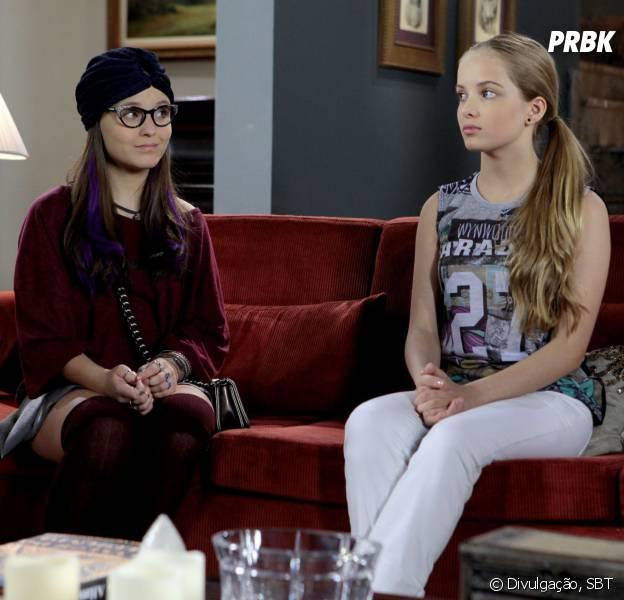 """Em """"Cúmplices de um Resgate"""": Isabela (Larissa Manoela) ajuda Priscila (Giovanna Chaves) com conselhos!"""