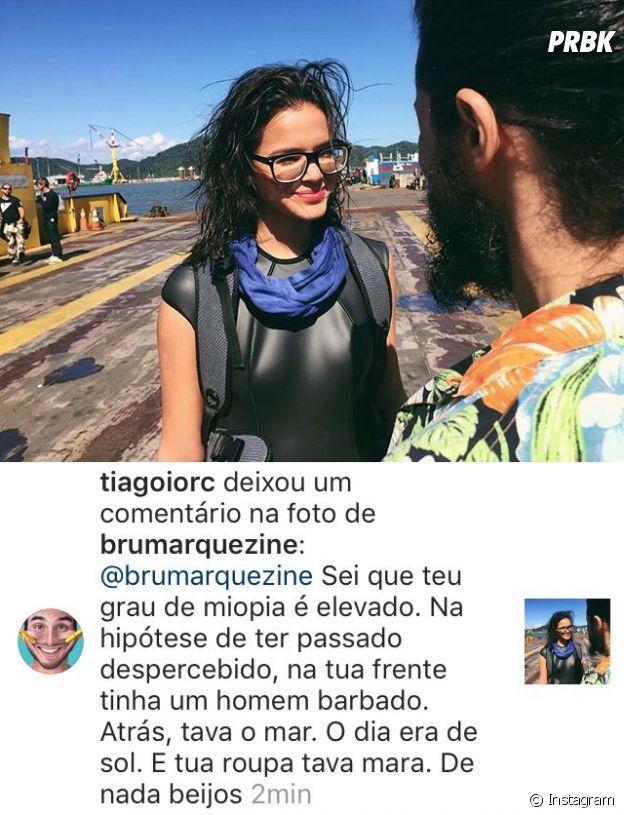 Tiago Iorc deixa comentário em foto de Bruna Marquezine no Instagram
