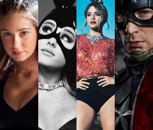 """Destaques de maio no Purebreak incluem final de """"Totalmente Demais"""", novos álbuns de Ariana Grande e Fifth Harmony, estreia de """"Capitão América"""" e mais!"""