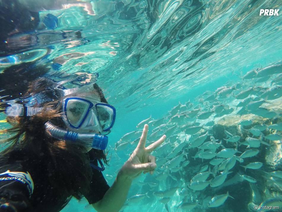 Maisa Silva até deu um mergulho incrível em uma das atividades em Orlando, nos EUA