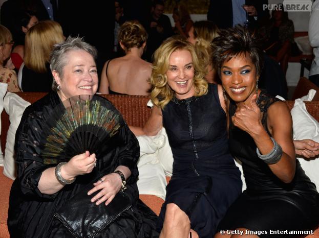 """As atrizes Kathy Bates, Jessica Lange e Angela Bassett marcaram presença na festa de lançamento de """"American Horror Story: Coven""""!"""