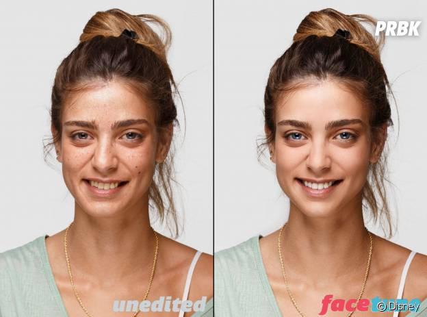 Antes e depois usando o Facetune