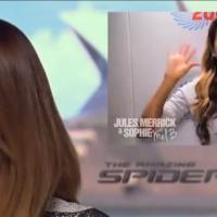 """Emma Stone chora ao receber """"bronca"""" de Mel B, ex-Spice Girls, confira o vídeo"""