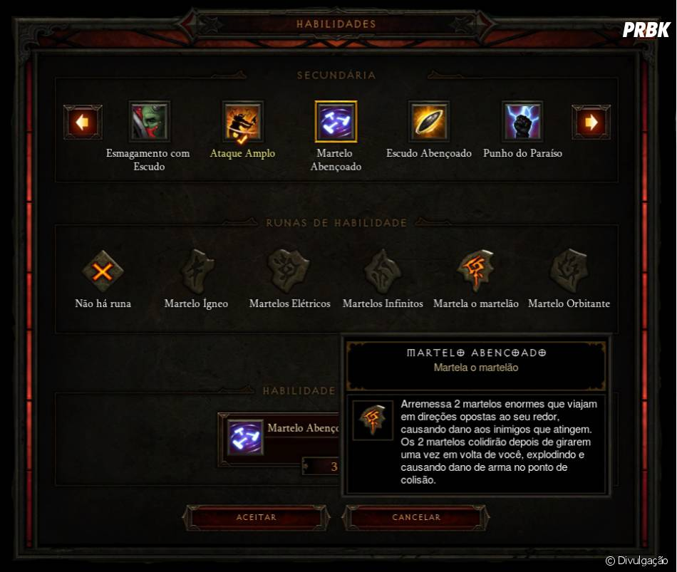 "Skills do Crusader do game ""Diablo III"""