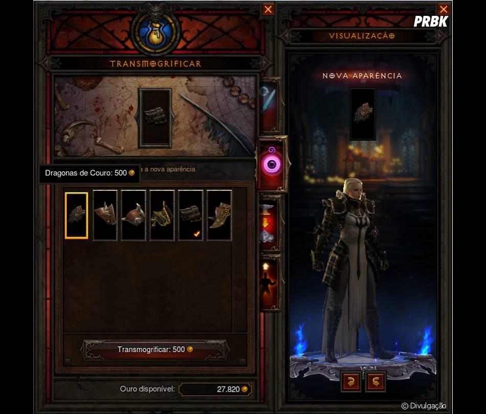 """Mudança de aparência com Transmiogrif na segunda expansão de """"Diablo III"""""""