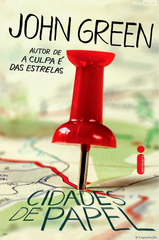 """Lançado em 2013 no Brasil, """"Cidades de Papel"""" é o quarto livro escrito por John Green"""