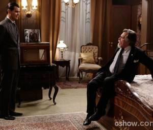 """Ernest (José de Abreu) e Manfred (Carmo Dalla Vecchia) nunca tiveram uma boa relação em """"Joia Rara"""""""