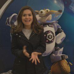 "Maisa Silva participa do ""Domingo Legal"" e mostra os estúdios de ""A Era do Gelo: O Big Bang"""