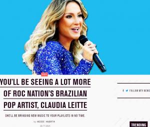 MTV dos Estados Unidos publica matéria sobre Claudia Leitte