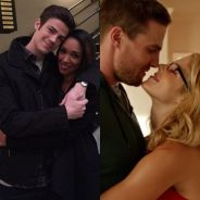"""Em """"The Flash"""" e """"Arrow"""": Barry e Iris ou Oliver e Felicity? Qual é o """"quase casal"""" mais amado?"""