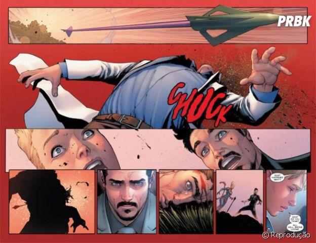 """Em """"Guerra Civil 2"""": Hulk recebe flechada de Gavião Arqueiro e é morto!"""