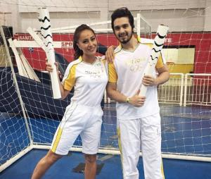 Luan Santana e Sabrina Sato levaram a tocha olímpica e fizeram os fãs babarem com os registros nas redes sociais