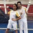 Luan Santana e Sabrina Sato ficaram super orgulhosos de representar as Olimpíadas 2016 no revezamento da tocha em São Paulo