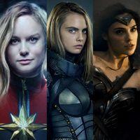 """Brie Larson, de """"Capitã Marvel"""", Cara Delevingne, Gal Gadot e as próximas heroínas do cinema!"""